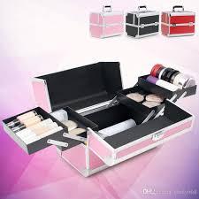 Makeup Box 2018 pink black makeup box large capacity cosmetic boxes makeup