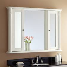 bathroom 36 inch furlong tri view beveled mirrored medicine