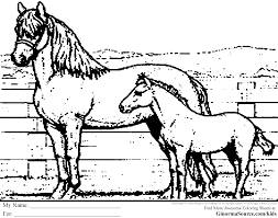 coloring pages of horses ginormasource kids