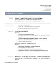 sample human resources assistant resume sample resume templates