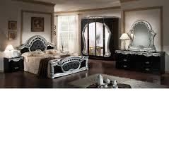 Italian Furniture Bedroom Sets by Dreamfurniture Com Rococo Italian Classic Black Silver Bedroom Set