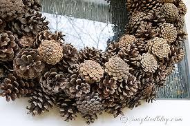 pine cone wreath pine cone wreath diy songbird