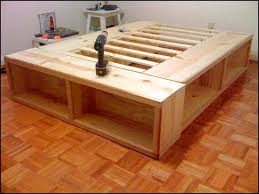 Woodworking Plans Bed Frame With Storage by King Size Bed Frame With Drawers Plans Good King Size Storage Bed