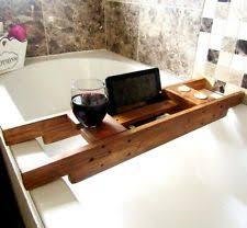 Wood Bathtub Caddy Wood Bath Caddies U0026 Organisation Ebay