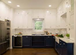 white cabinets brown lower cabinets in kitchen white and blue lower cabinets in a fantastic