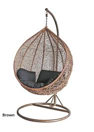 Indoor Hanging Swing Chair Egg Shaped Furniture Home Egg Shape Hanging Chair The Hammock Experthanging