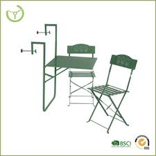hanging balcony folding bistro table and chair set adjustable
