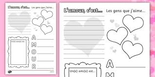 valentine u0027s worksheet french french worksheets