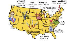 Visited States Map Map Of America According To Donald Trump Washington Post