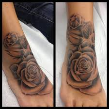 skull and black rose tattoo drawing design idea for men and women