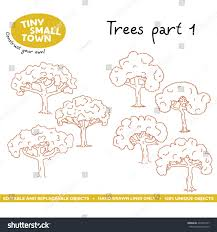 tiny small town trees part 1 stock vector 493337377 shutterstock