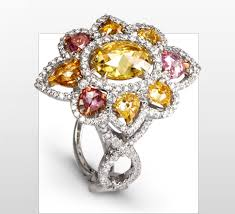 colored diamonds rings images Jewelry collections la reina collection colored diamonds rings jpg