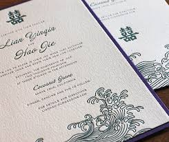 asian wedding invitation letterpress wedding invitations asian collection letterpress