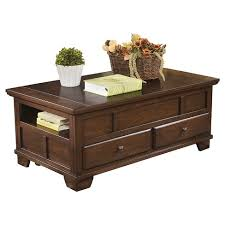 ashley lift top coffee table gately lift top cocktail table medium brown signature design by