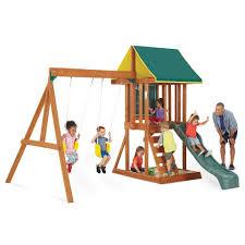 backyard wooden swing sets home decorating interior design