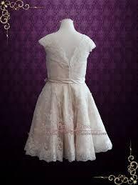 knee length wedding dress retro 50s lace knee length wedding dress with thin sash cynthia
