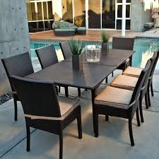 Home Design For Outside Patio Patio Table And Chair Set Black And Cream Rectangle Modern