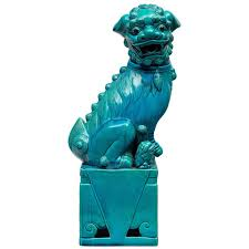 turquoise foo dogs for sale large turquoise foo dog for sale at 1stdibs