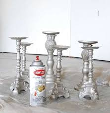 Cheap Candle Vases Update From Cheap To Cheery Thrift Store Candle Sticks Spray
