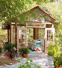 Backyard Rooms Ideas by Remove The Walls Of An Old Shed And Use Its Frame To Create An