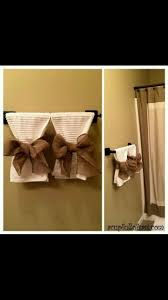 Bathroom Towels Ideas by Best 20 Burlap Bathroom Decor Ideas On Pinterest Downstairs