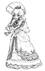 coloring pages baby princess peach coloring pages mario
