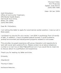 unique cover letter for social work internship 61 for example