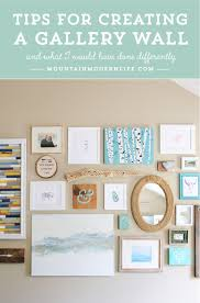 tips for creating a gallery wall mountainmodernlife com