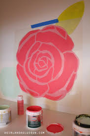 paint stencils for walls fun floral wall that you can do at home a and a glue gun