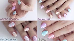 summer nail art designs tutorial polka dot pastels youtube