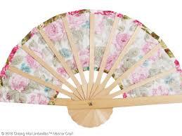 custom hand fans no minimum fabric folding fans sunisa umbrella factory