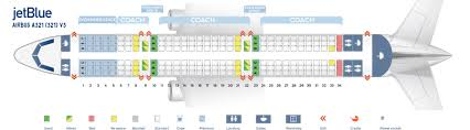 Air India Seat Map by Seat Map Airbus A321 200