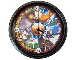 Art Wall Clock by Chrono Trigger The Wings Of Time 3d Wall Clock Video
