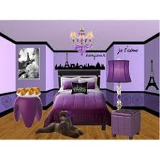 Purple Themed Bedroom - paris girls bedroom theme mural idea as seen on www findamuralist