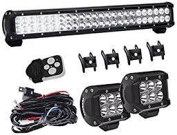 rear race light bar amazon com 23in combo led light bar with 4in pods cube fog lights