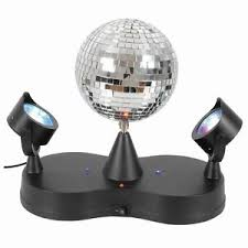 mini disco ball light mini disco rotate mirror ball 2 led party spot lights ebay