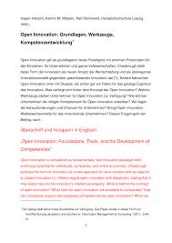 K Hen In U Form G Stig Open Innovation Grundlagen Werkzeuge Kompetenzentwicklung Pdf