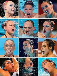 Synchronized Swimming Meme - synchronized faces participants in the synchronized swimming