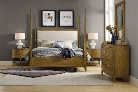 hooker furniture bedroom retropolitan king poster bed 5510 90666 mwd