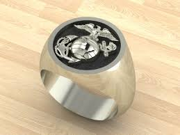 marine wedding rings mr28 sterling silver marine corps ring
