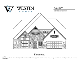 Floor Plans And Elevations Of Houses Trails Of Katy Sec 1 75 U0027 Westin Homes