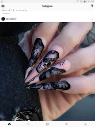 pink and black skull nail art design nails pinterest design