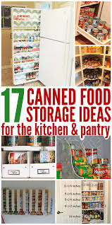 canned food storage ideas to organize your pantry