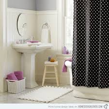 Pink Black And White Shower Curtain 15 Black And White Shower Curtain Designs Home Design Lover
