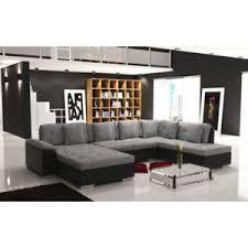 canapé d angle noir et gris meublesline canapé d angle en u panoramique smile gris et noir