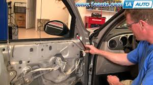 how to install replace side rear view mirror chrysler pt cruiser