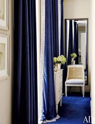 White Curtains With Blue Trim Decorating Great White Curtains With Blue Trim Decorating With Curtains White