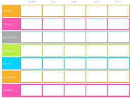 best free printable weekly planner weekly planner template printable best template blank workout