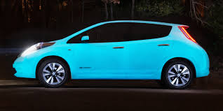 nissan leaf ad this glowing leaf is the ideal uber to take to a rave