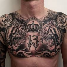 tiger chest tattoos tiger tigers and